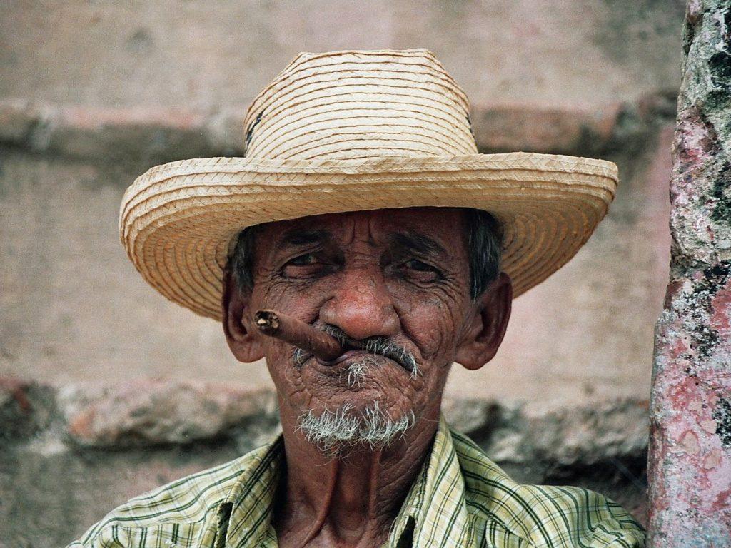 an aged smoker