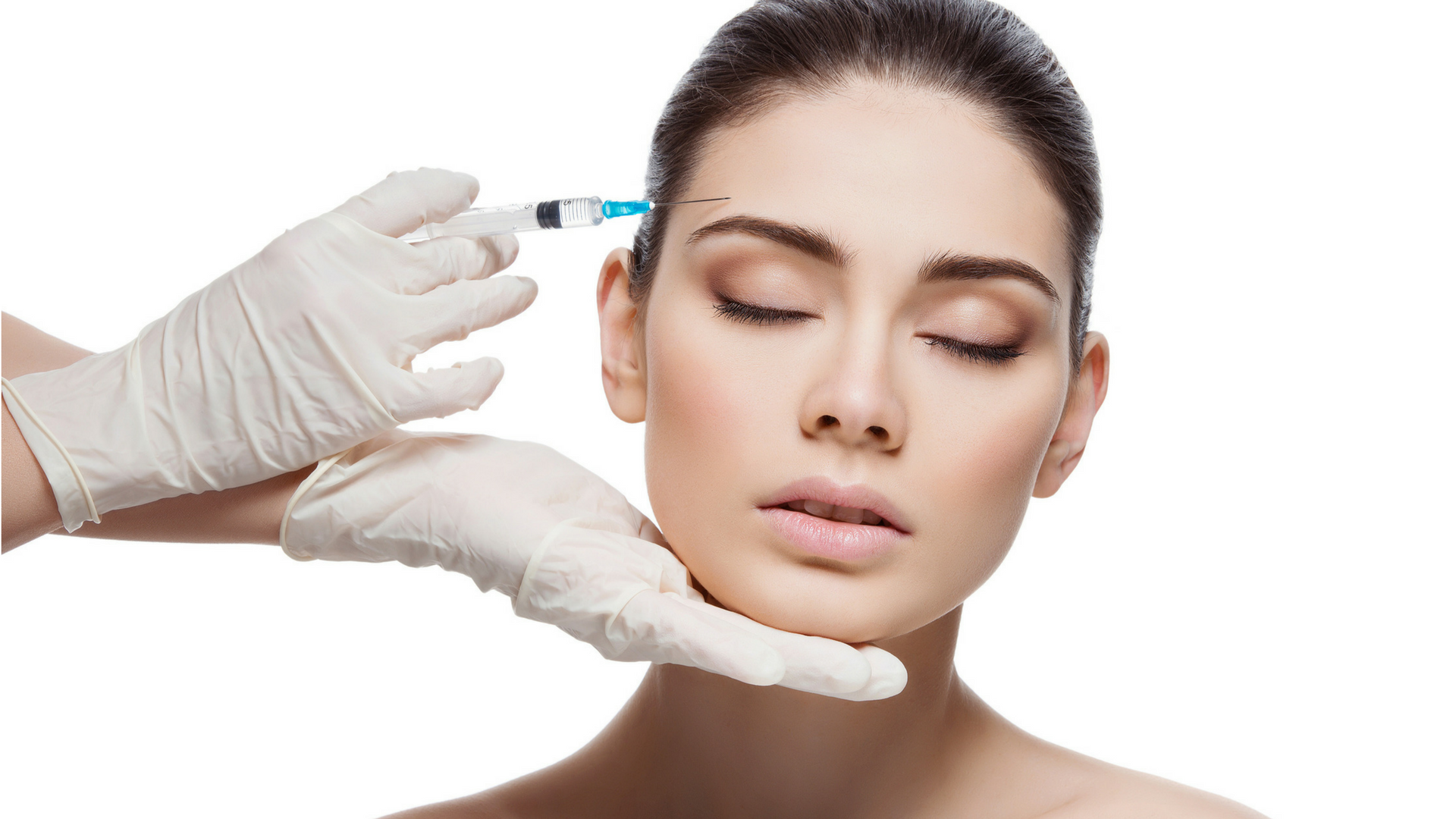 botox injection woman face