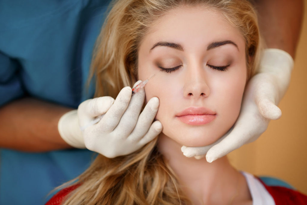 botox injections woman face