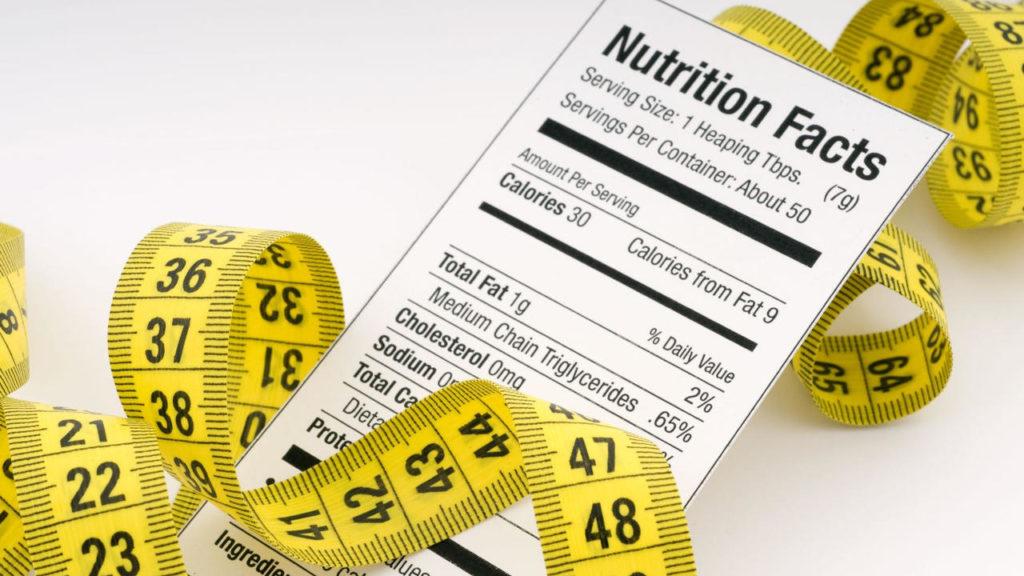 nutrition facts calories tape measure