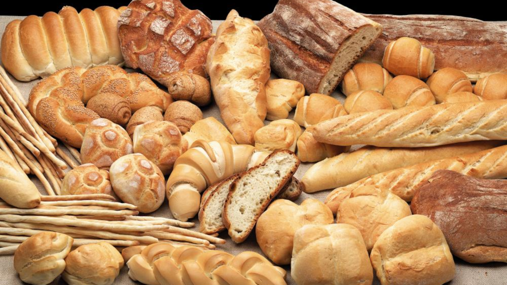 carbs breads baked foods