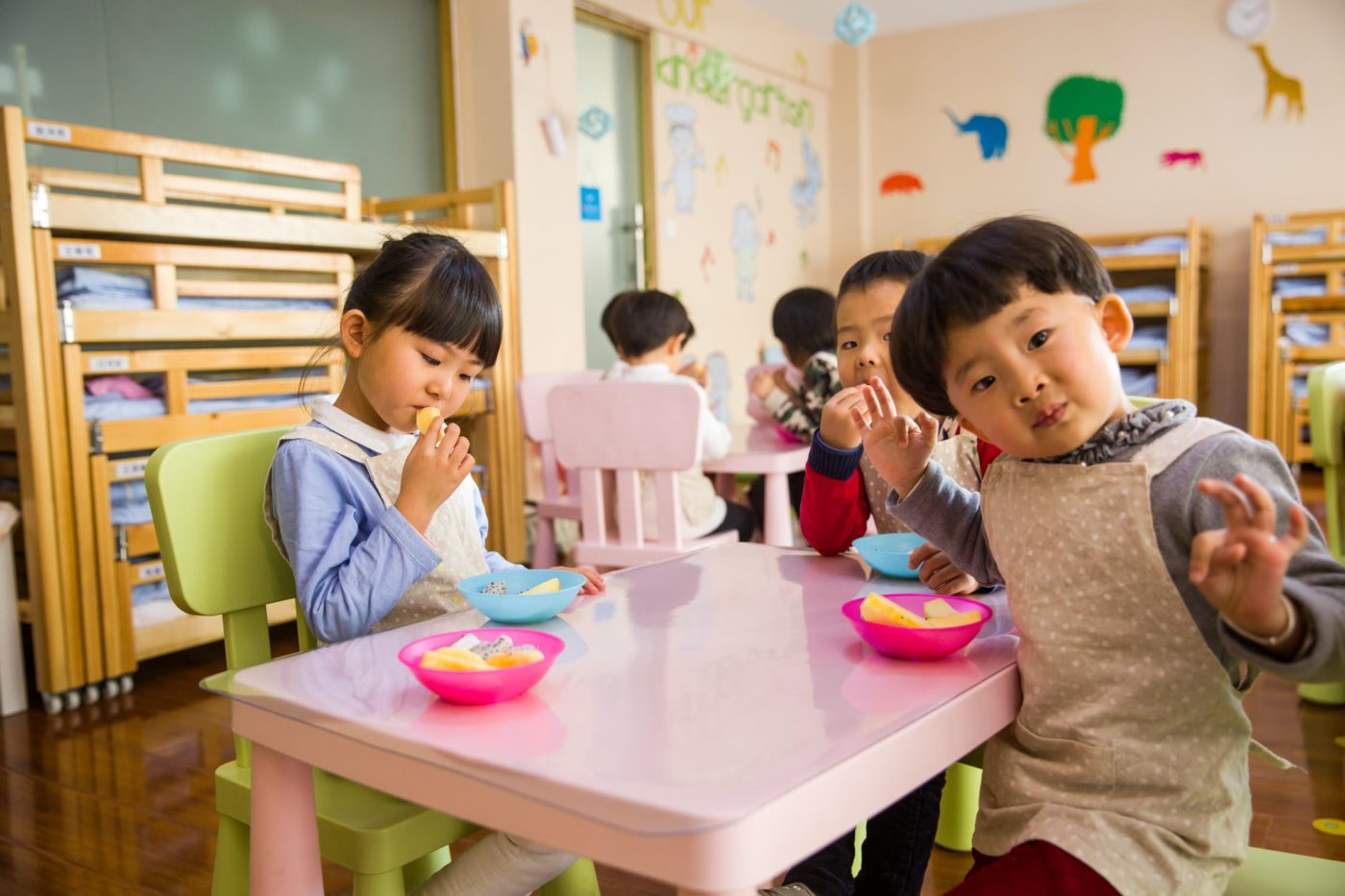 Some children eating