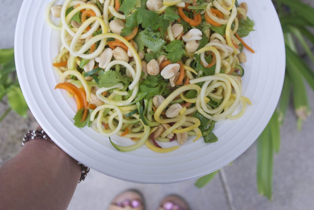 pad thai zoodles in plate