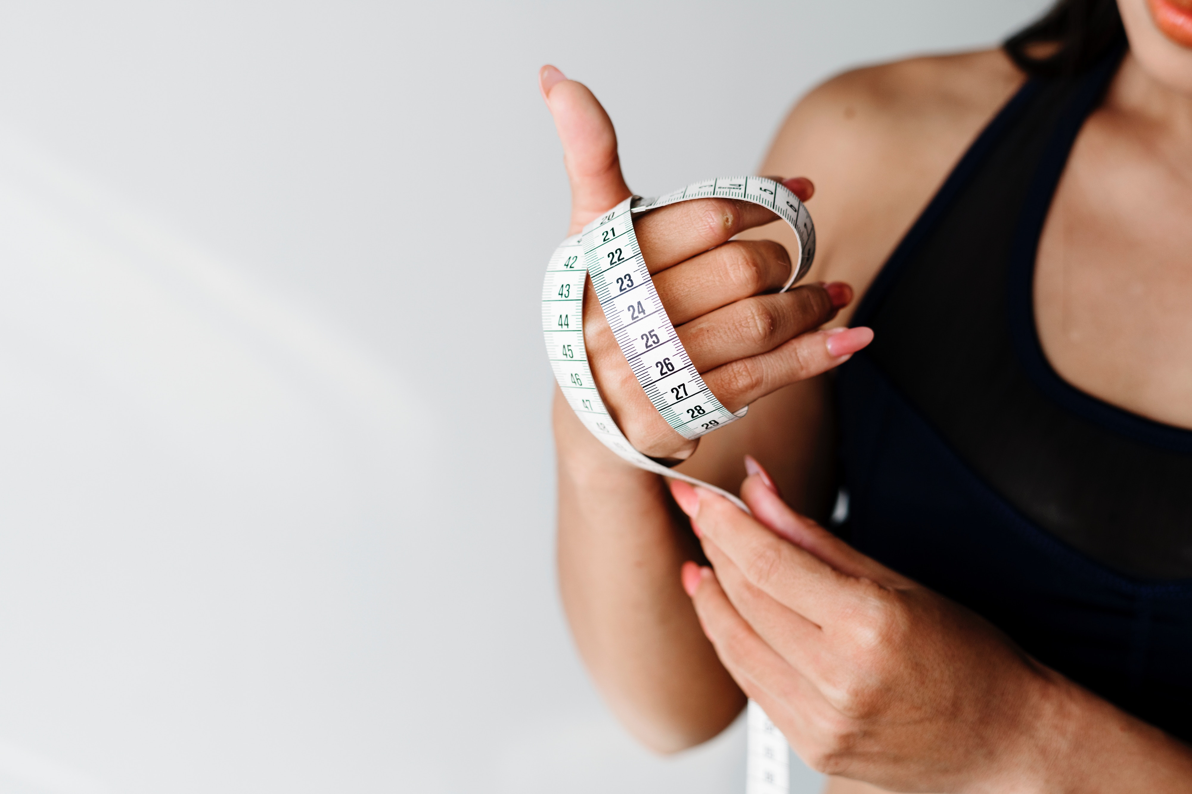 A woman with tape measurement