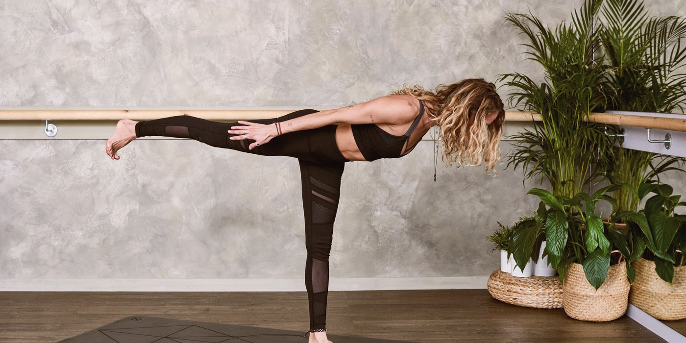 Picture of a woman doing yoga