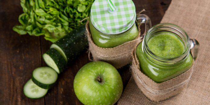 Glasses of cucumber juice
