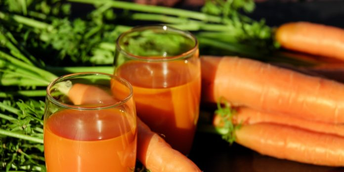 A picture of carrot juice