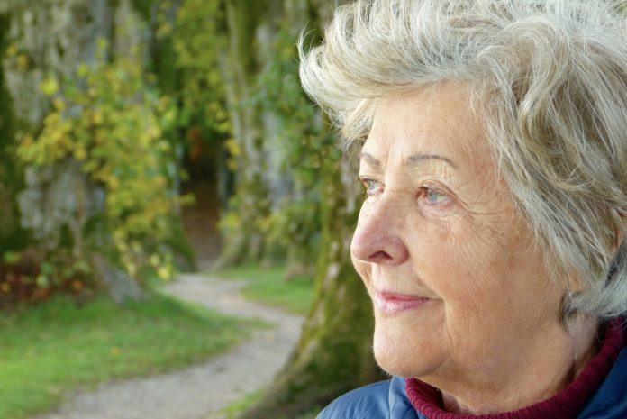 A woman suffering dementia