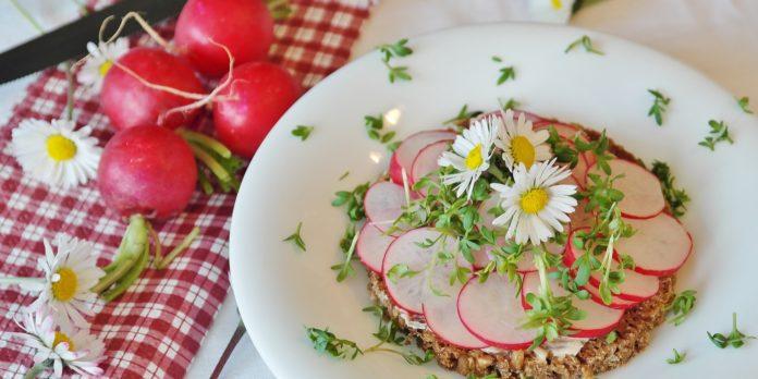 a plate of radish