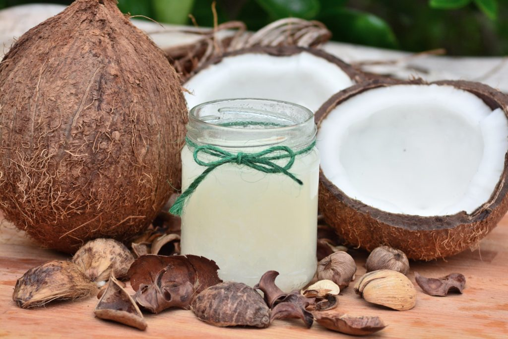 Some coconut and coconut oil