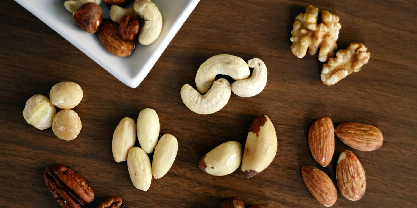 A variety of nuts