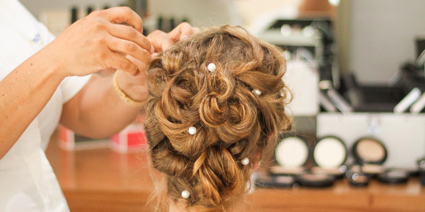 a woman`s hair