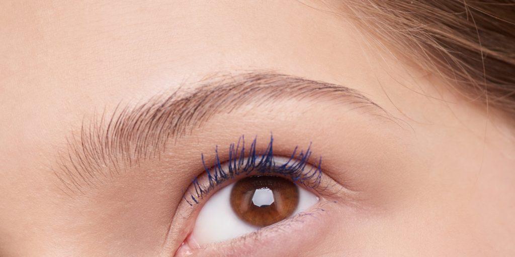 a woman`s eyebrow