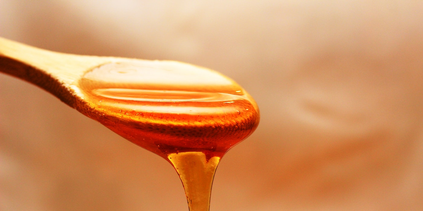 a spoon of honey