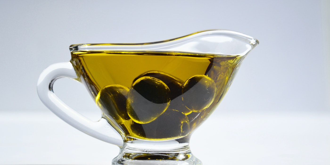 a cup of olive oil