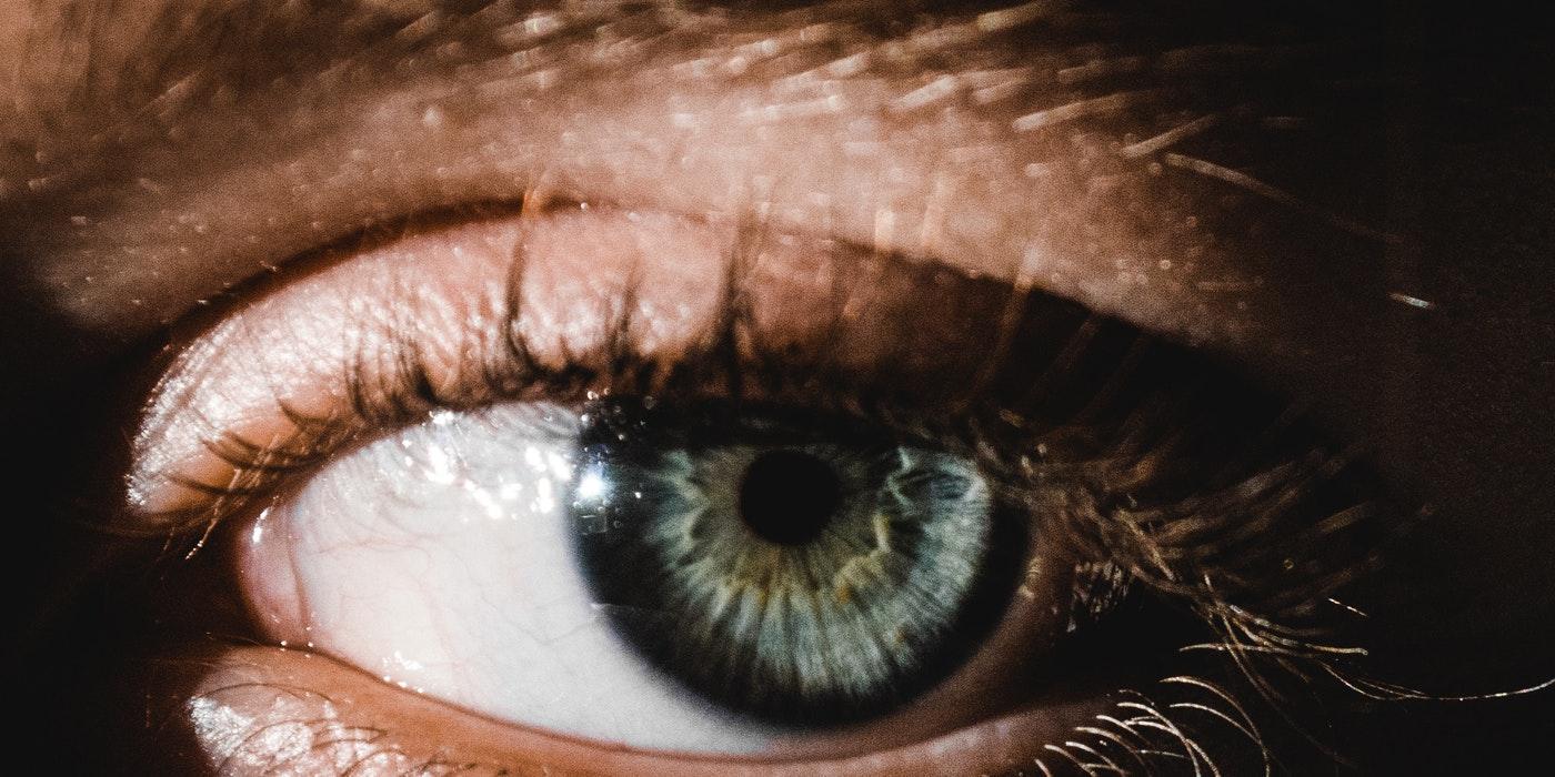closeup image of the eye
